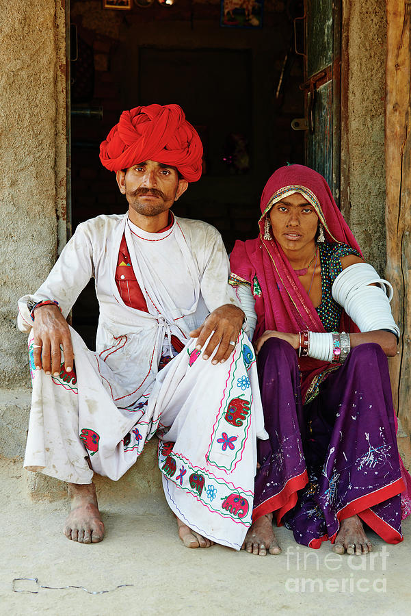 India, Rajasthan, Meda Village Photograph by Tuul & Bruno Morandi