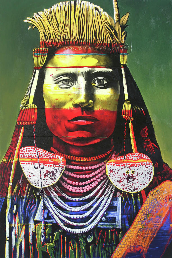 Indian Chief Painting - Indian Chief by Graeme Stevenson