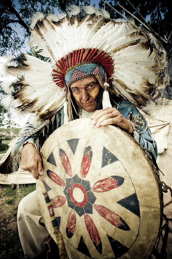 Indian Chief Photograph by Mlenny