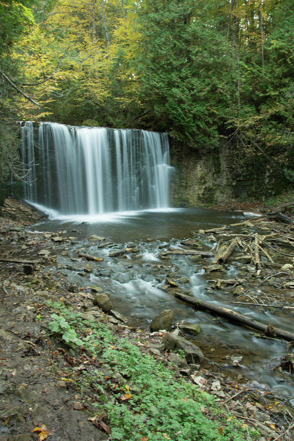 Owen Sound Photograph - Hoggs Falls by John Rowley