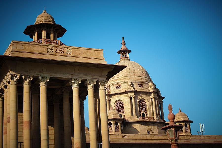 Indian Parliament In New Delhi Photograph by Teekid