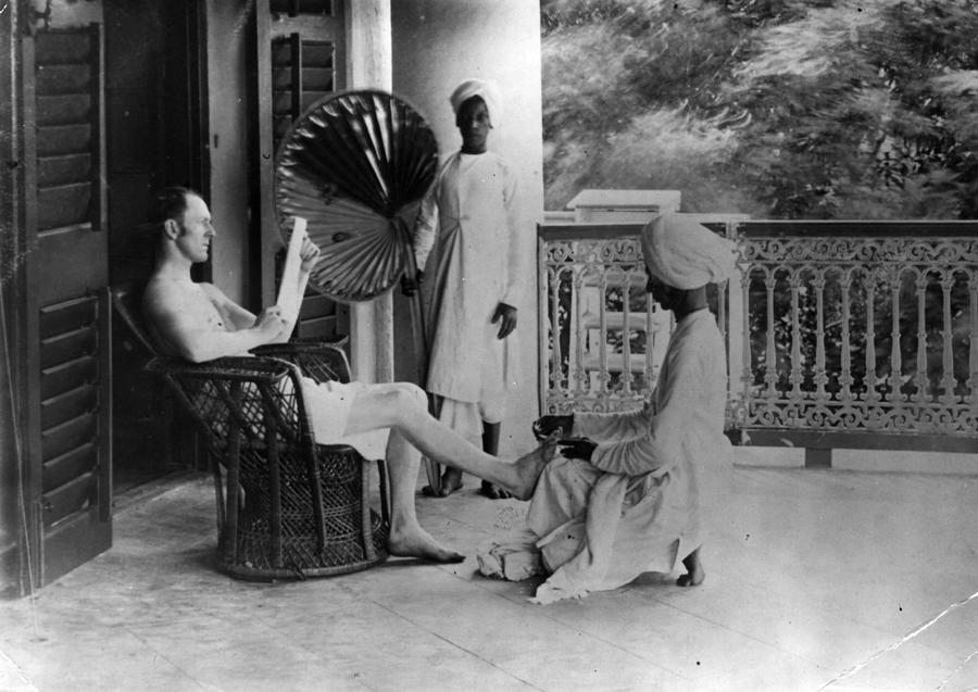Indian Pedicure Photograph by Hulton Archive