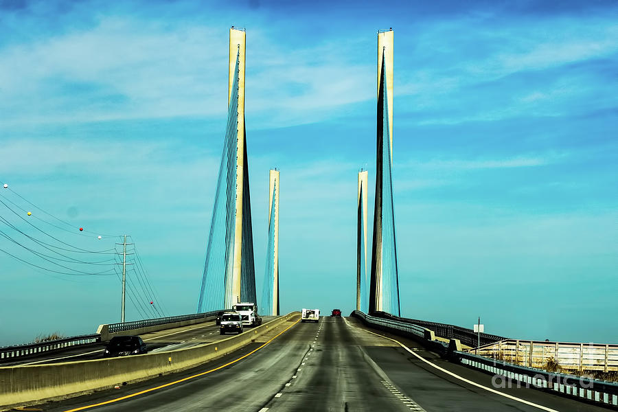 Indian River Inlet Bridge Delaware by Thomas Marchessault
