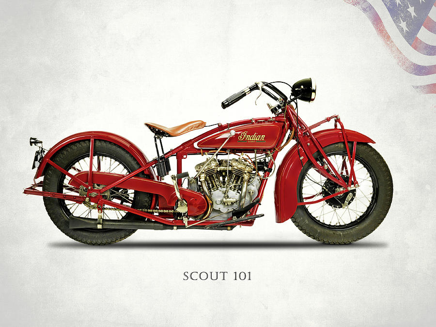 Indian Scout 101 Photograph - The Scout 101 1929 by Mark Rogan