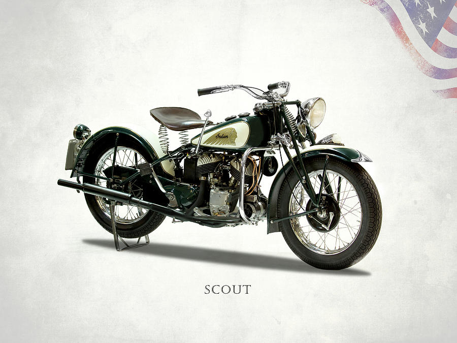 Indian Motorcycle Photograph - Scout 741 1941 by Mark Rogan
