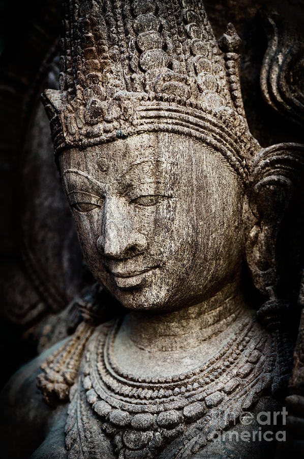Granite Photograph - Indian Temple Goddess by Tim Gainey