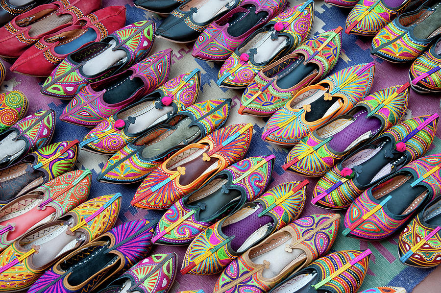 Indian Typical Shoes Photograph by Massimo Calmonte (www.massimocalmonte.it)