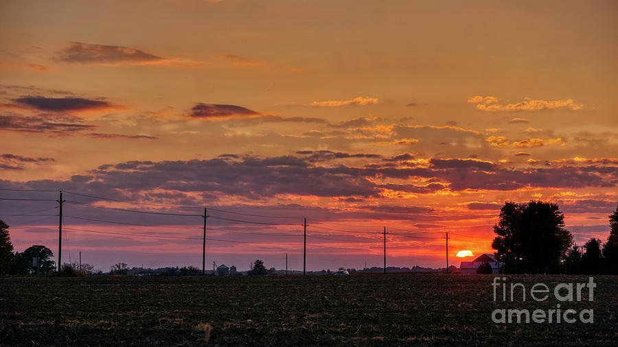 Indiana Farm Sunset by Daniel Brinneman