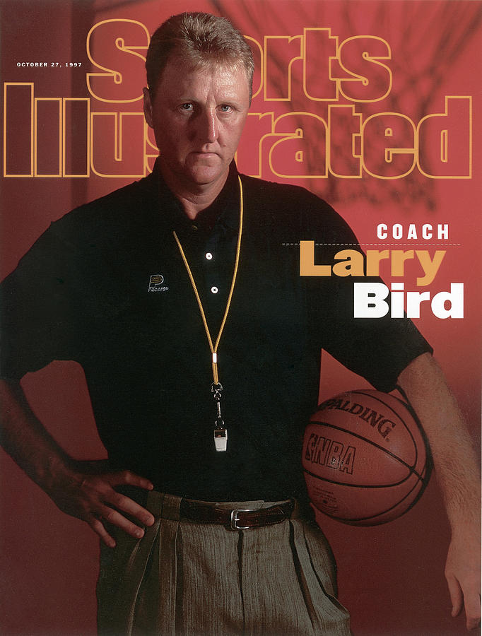 Indiana Pacers Coach Larry Bird Sports Illustrated Cover Photograph by Sports Illustrated