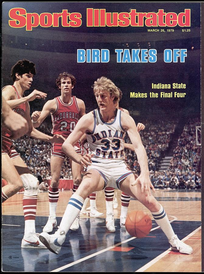 Indiana State Larry Bird, 1979 Ncaa Midwest Regional Sports Illustrated Cover Photograph by Sports Illustrated