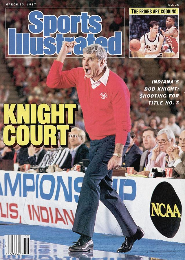 Indiana University Coach Bob Knight, 1987 Ncaa Midwest Sports Illustrated Cover Photograph by Sports Illustrated