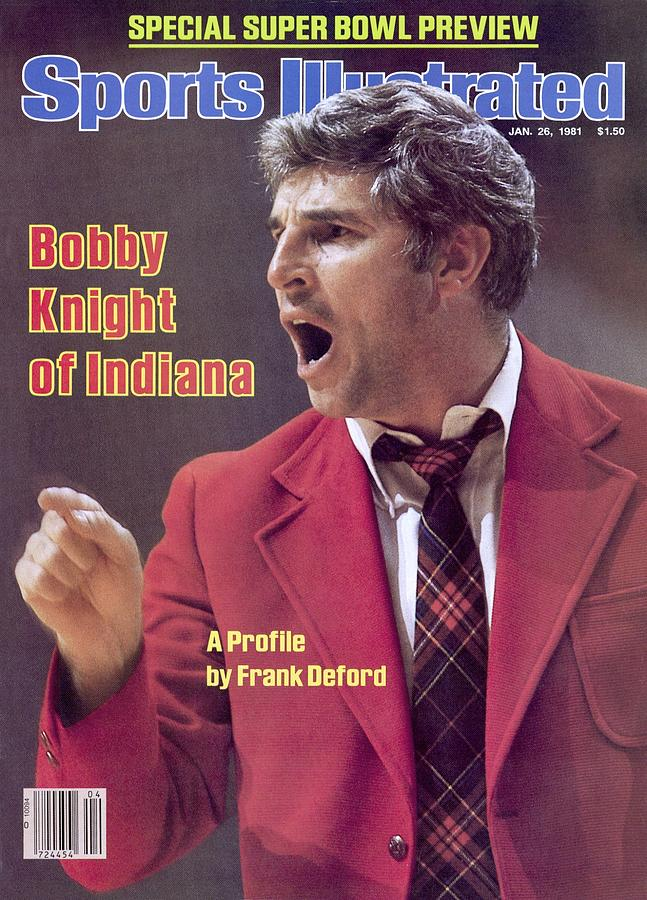 Indiana University Coach Bobby Knight Sports Illustrated Cover Photograph by Sports Illustrated