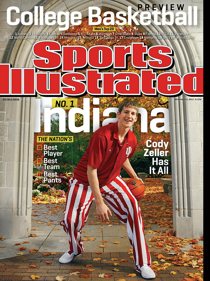 Indiana University Cody Zeller, 2012-13 College Basketball Sports Illustrated Cover Photograph by Sports Illustrated