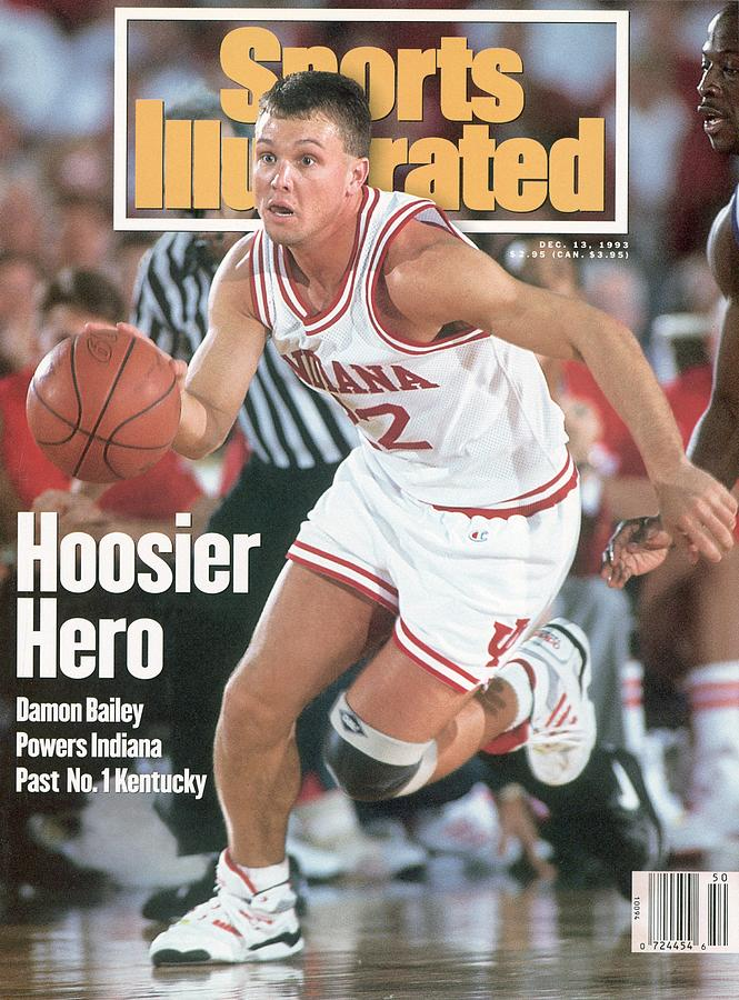 Indiana University Damon Bailey Sports Illustrated Cover Photograph by Sports Illustrated