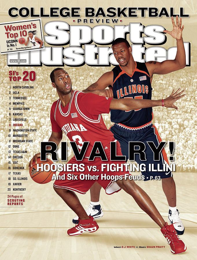 Indiana University D.j. White And University Of Illinois Sports Illustrated Cover Photograph by Sports Illustrated