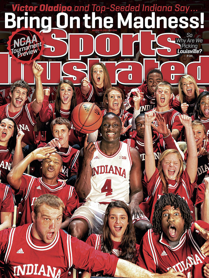 Indiana University Victor Oladipo, 2013 March Madness Sports Illustrated Cover Photograph by Sports Illustrated