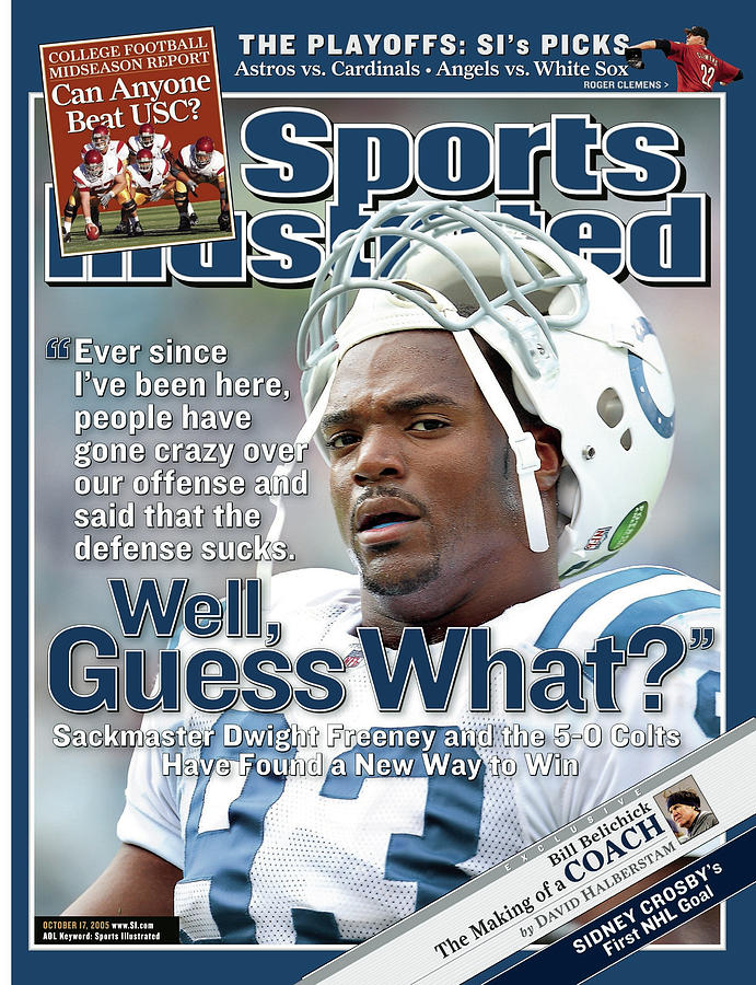 Indianapolis Colts Dwight Freeney Sports Illustrated Cover Photograph by Sports Illustrated