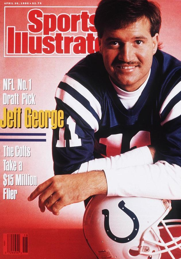 Indianapolis Colts Qb Jeff George Sports Illustrated Cover Photograph by Sports Illustrated