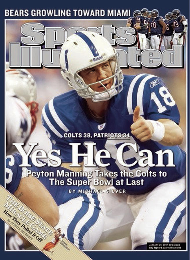 Indianapolis Colts Qb Peyton Manning, 2007 Afc Championship Sports Illustrated Cover Photograph by Sports Illustrated