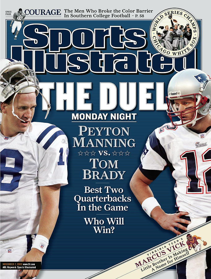 Indianapolis Colts Qb Peyton Manning And New England Sports Illustrated Cover Photograph by Sports Illustrated