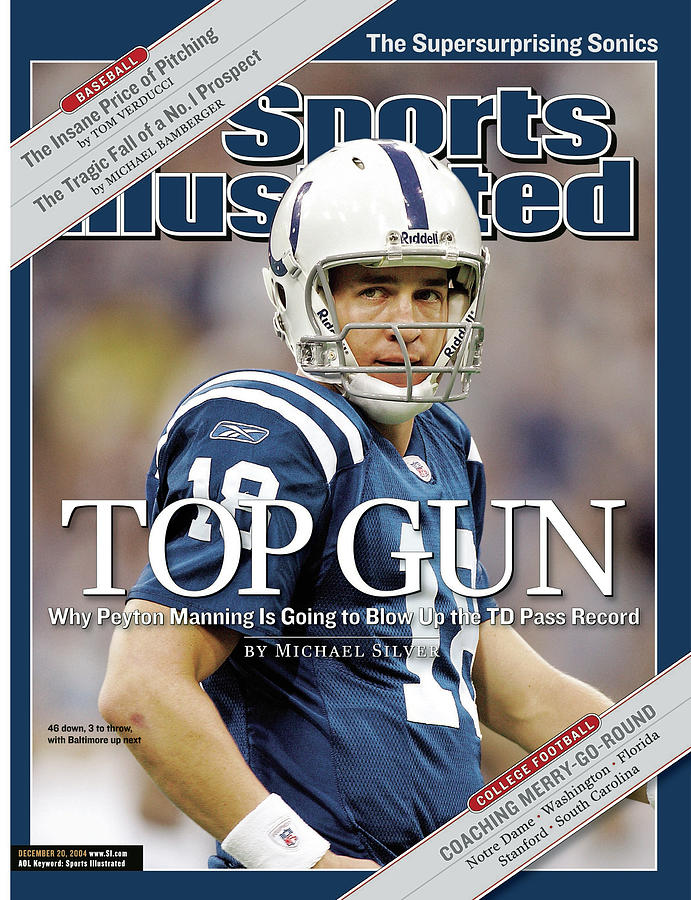 Indianapolis Colts Qb Peyton Manning Sports Illustrated Cover Photograph by Sports Illustrated