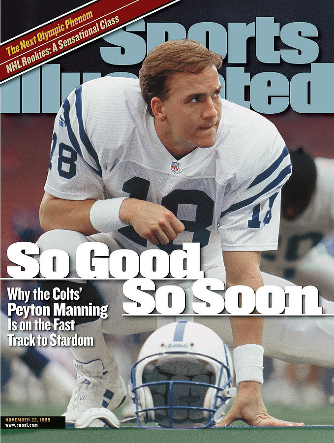 Indianapolis Colts Qb Peyton Manning... Sports Illustrated Cover Photograph by Sports Illustrated