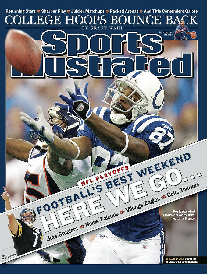 Indianapolis Colts Reggie Wayne, 2005 Afc Wild Card Playoffs Sports Illustrated Cover Photograph by Sports Illustrated