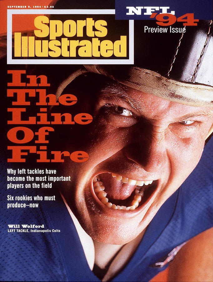 Indianapolis Colts Will Wolford, 1994 Nfl Football Preview Sports Illustrated Cover Photograph by Sports Illustrated