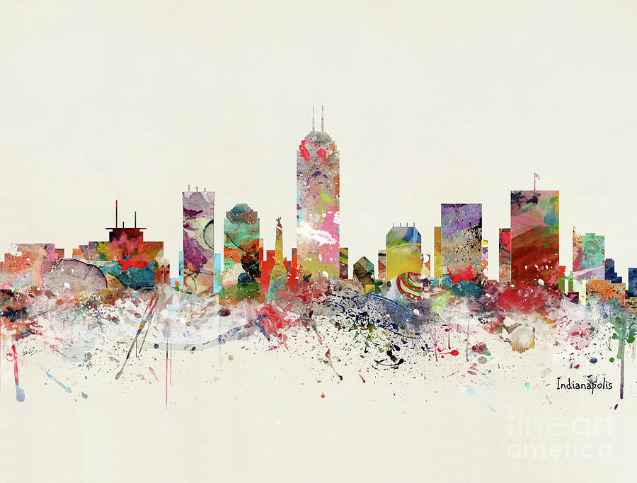 Indianapolis Painting - Indianapolis Skyline by Bri Buckley
