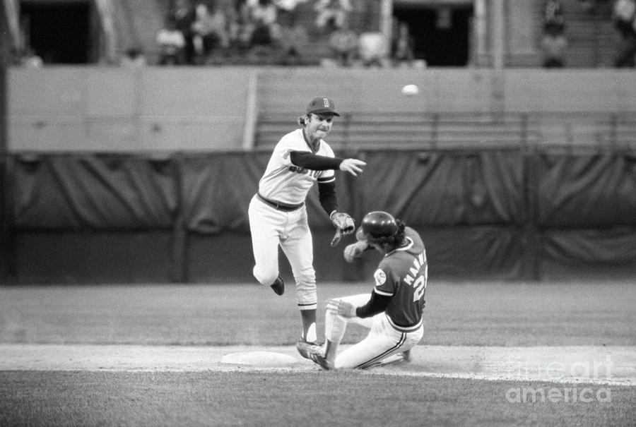 Indians Vs. Red Sox Double Play Photograph by Bettmann