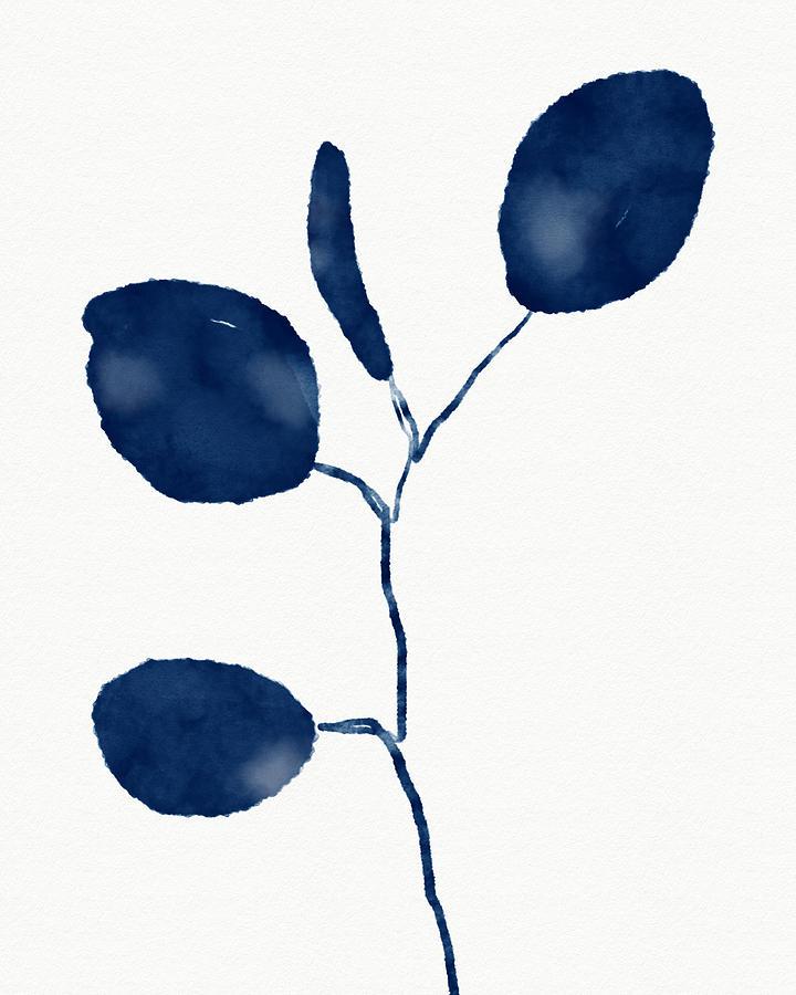 Botanical Mixed Media - Indigo Eucalyptus 2- Art By Linda Woods by Linda Woods