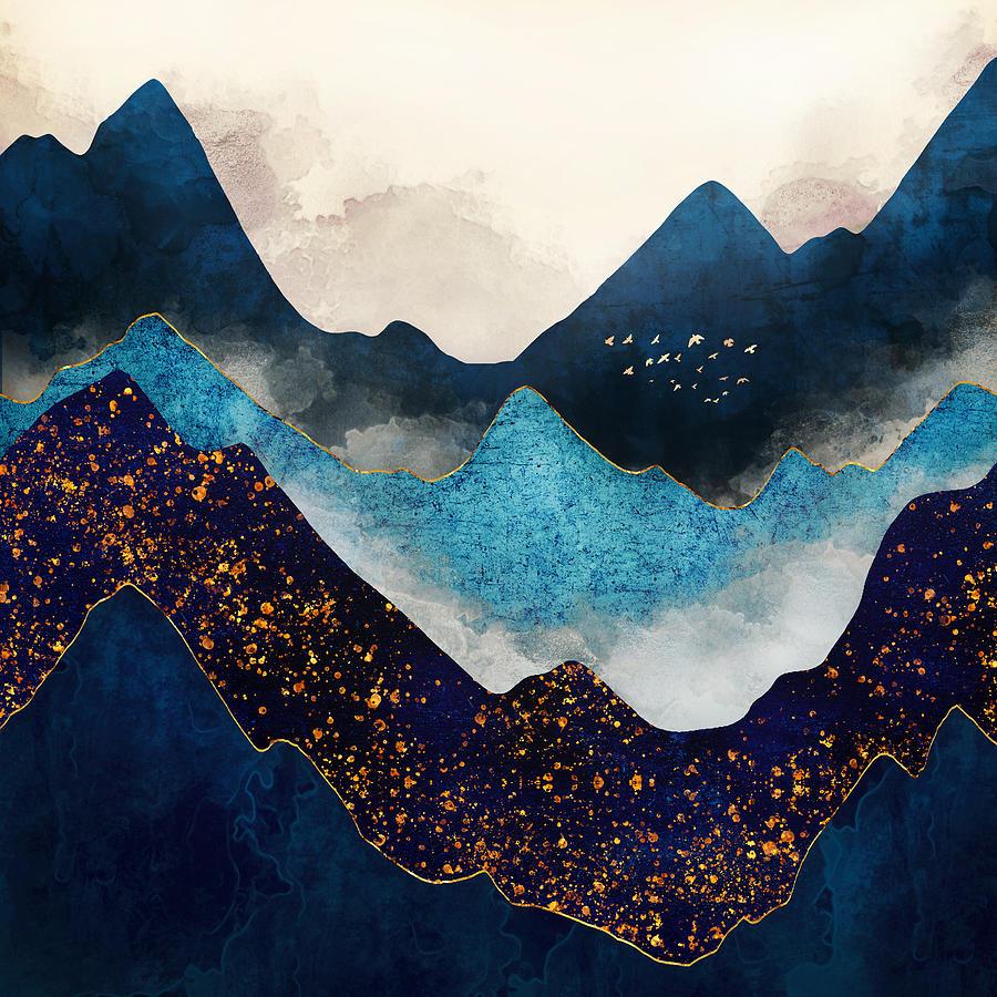 Indigo Peaks by Spacefrog Designs