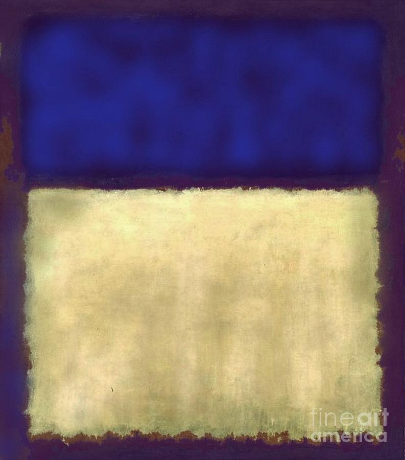 Indigo Painting - Indigo Sky And Field - Contemporary Abstract by Vesna Antic