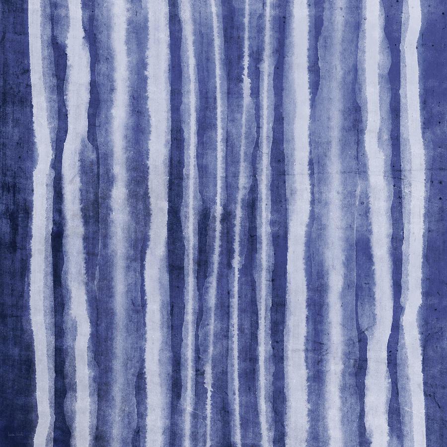 Blue Painting - Indigo Water Lines- Art By Linda Woods by Linda Woods