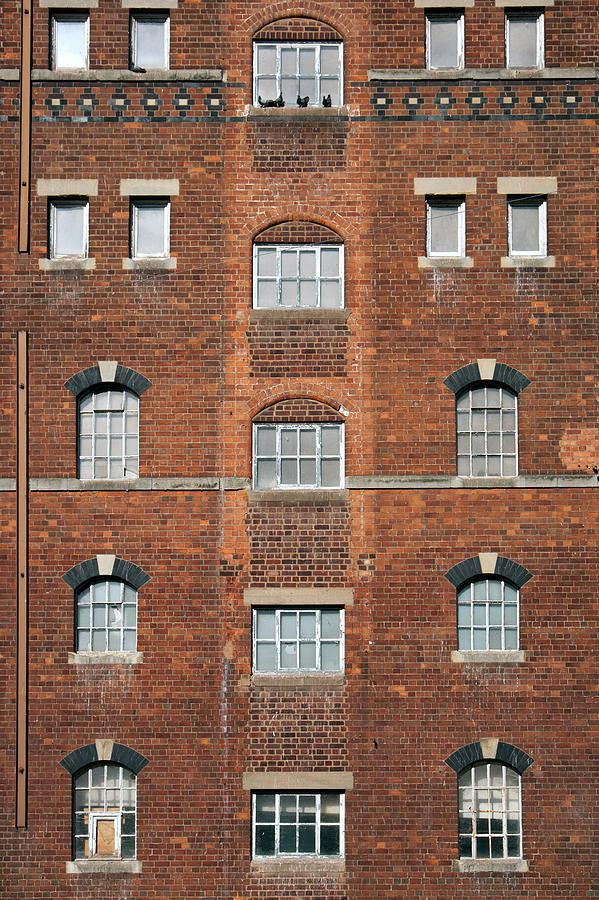 Industrial Building Windows Photograph