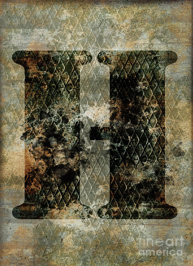 Letter Photograph - Industrial Letter H by Delphimages Photo Creations