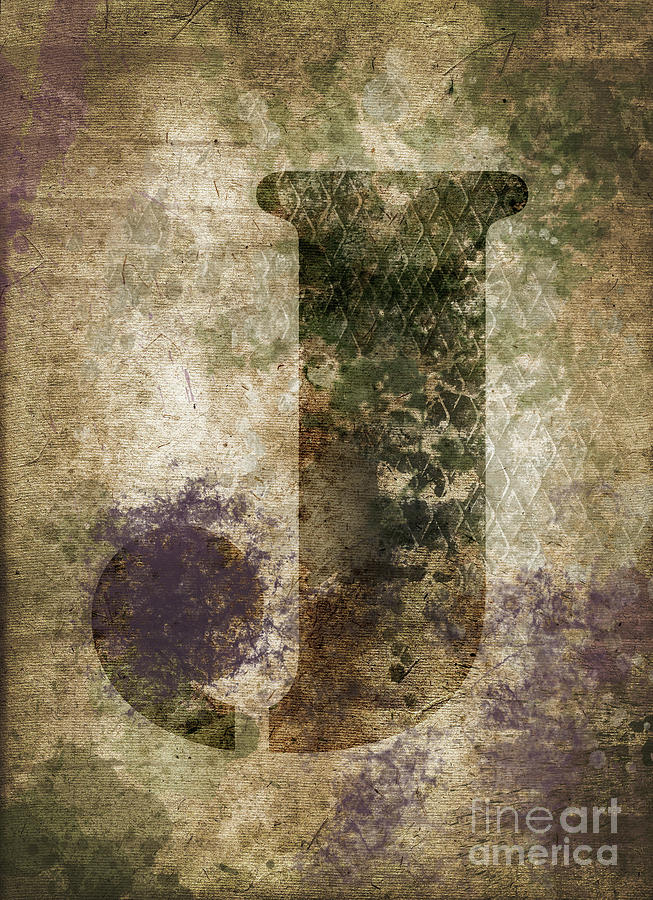 Letter Photograph - Industrial Letter J by Delphimages Photo Creations