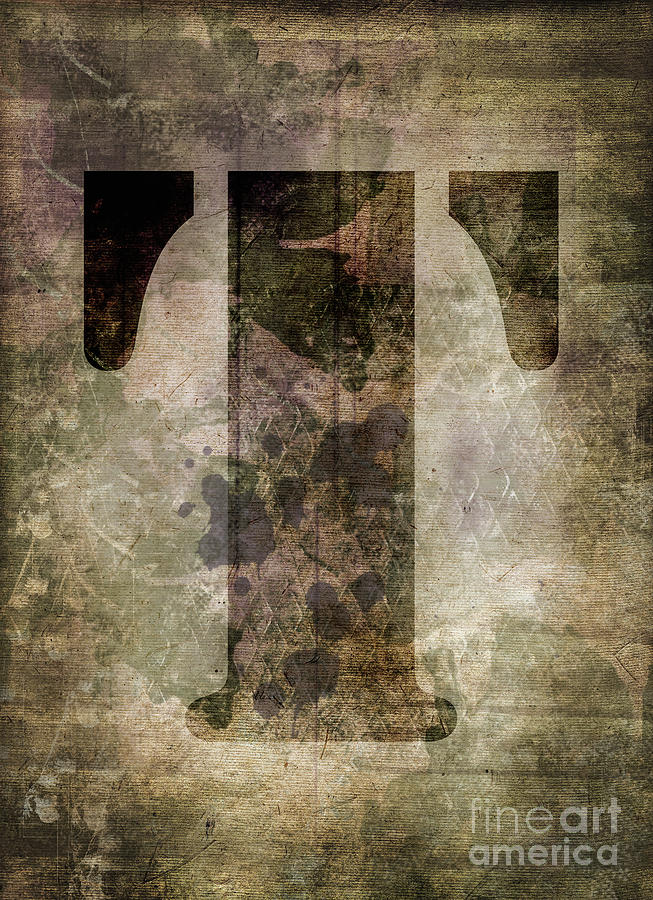 Letter Photograph - Industrial Letter T by Delphimages Photo Creations