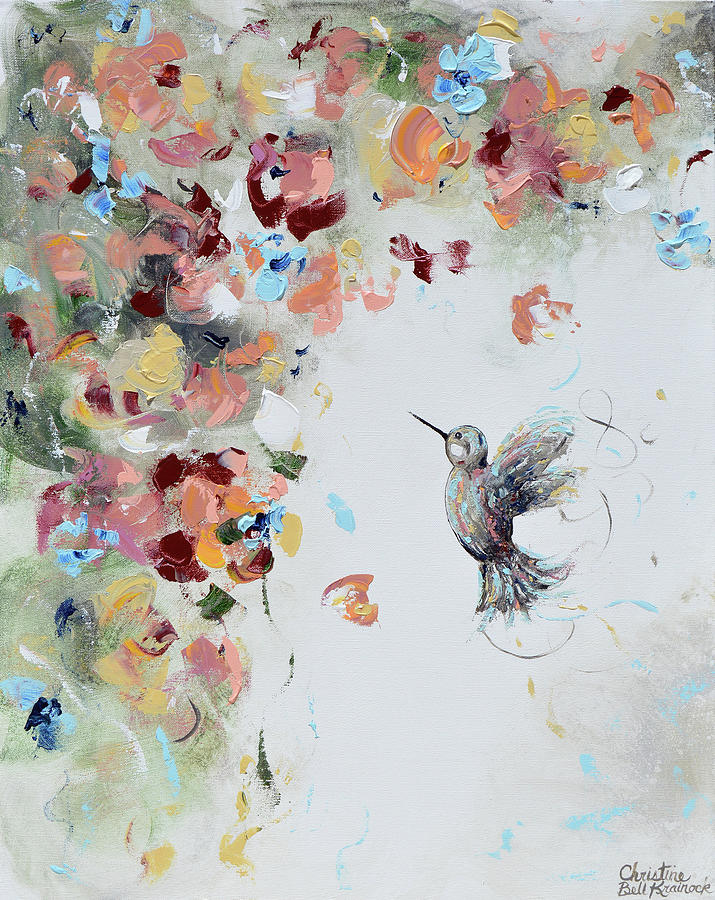 Infinite Joy Hummingbird Painting by Christine Bell