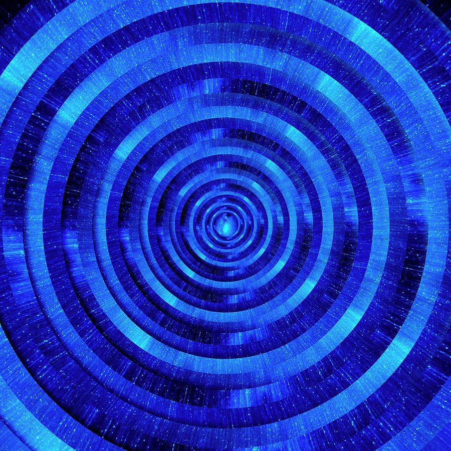 Infinity Tunnel Milky Way Zoom Circles Digital Art