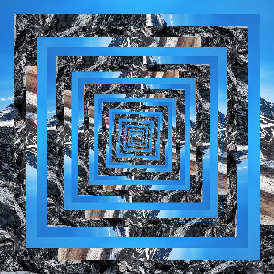 Infinity Tunnel Mount Rainier Digital Art