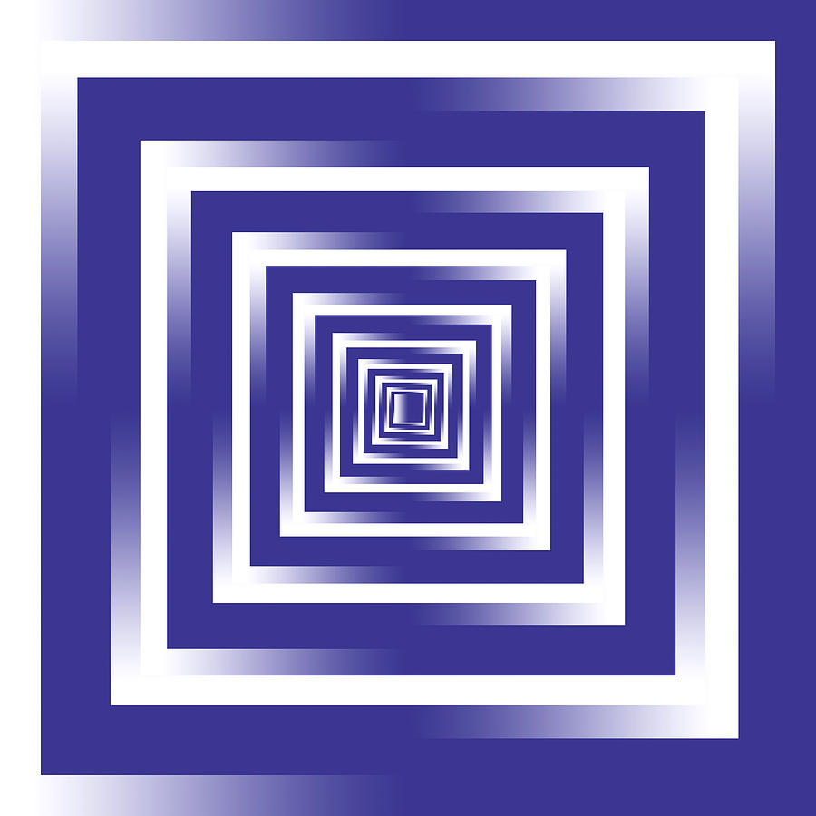 Infinity Tunnel Purple To White Digital Art