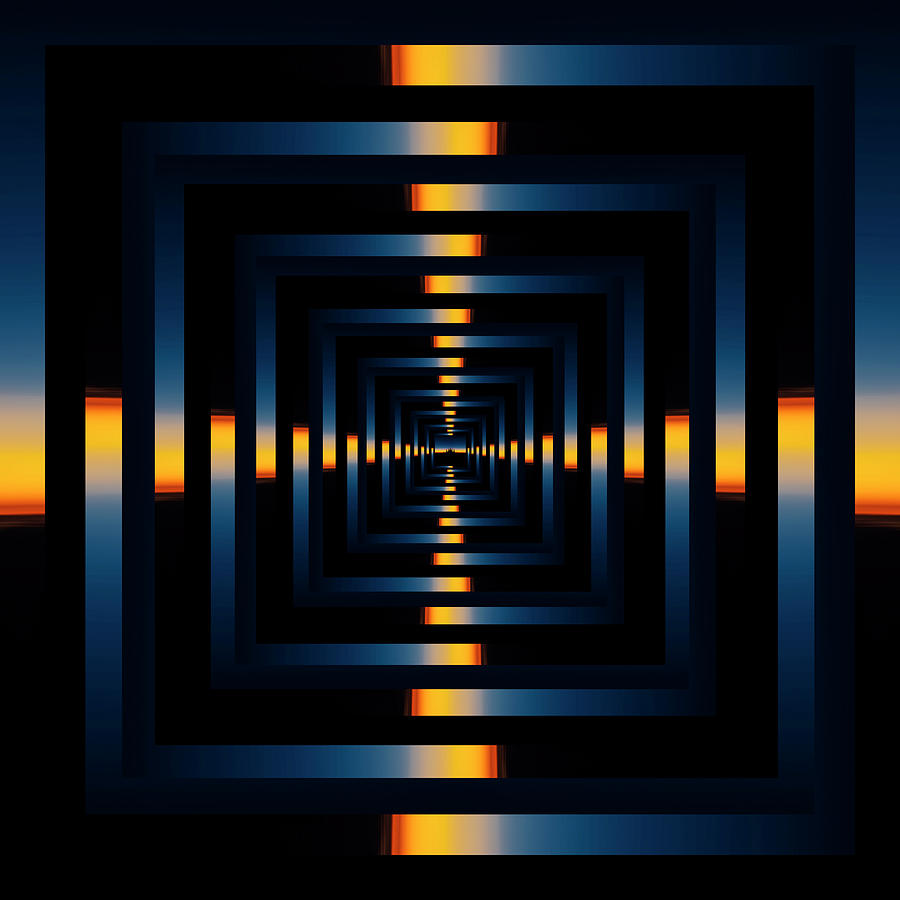 Infinity Tunnel Skyline Divide Sunset Reflection Photograph