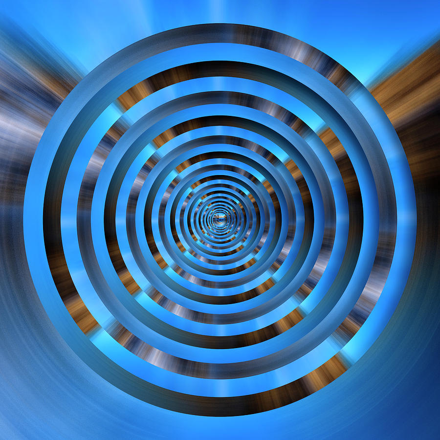 Infinity Tunnel Zooming Into The Spin Circles Digital Art