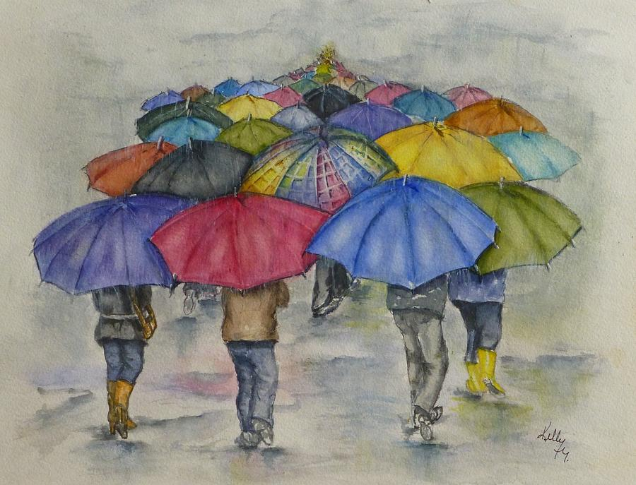 Infinity Umbrella Walk by Kelly Mills