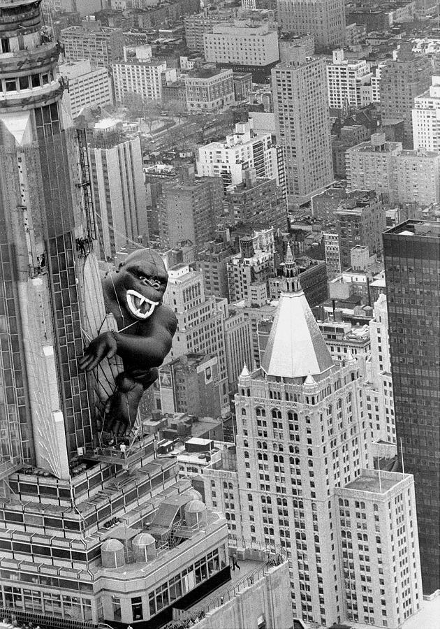 Inflatable King Kong On The Empire Photograph by New York Daily News Archive