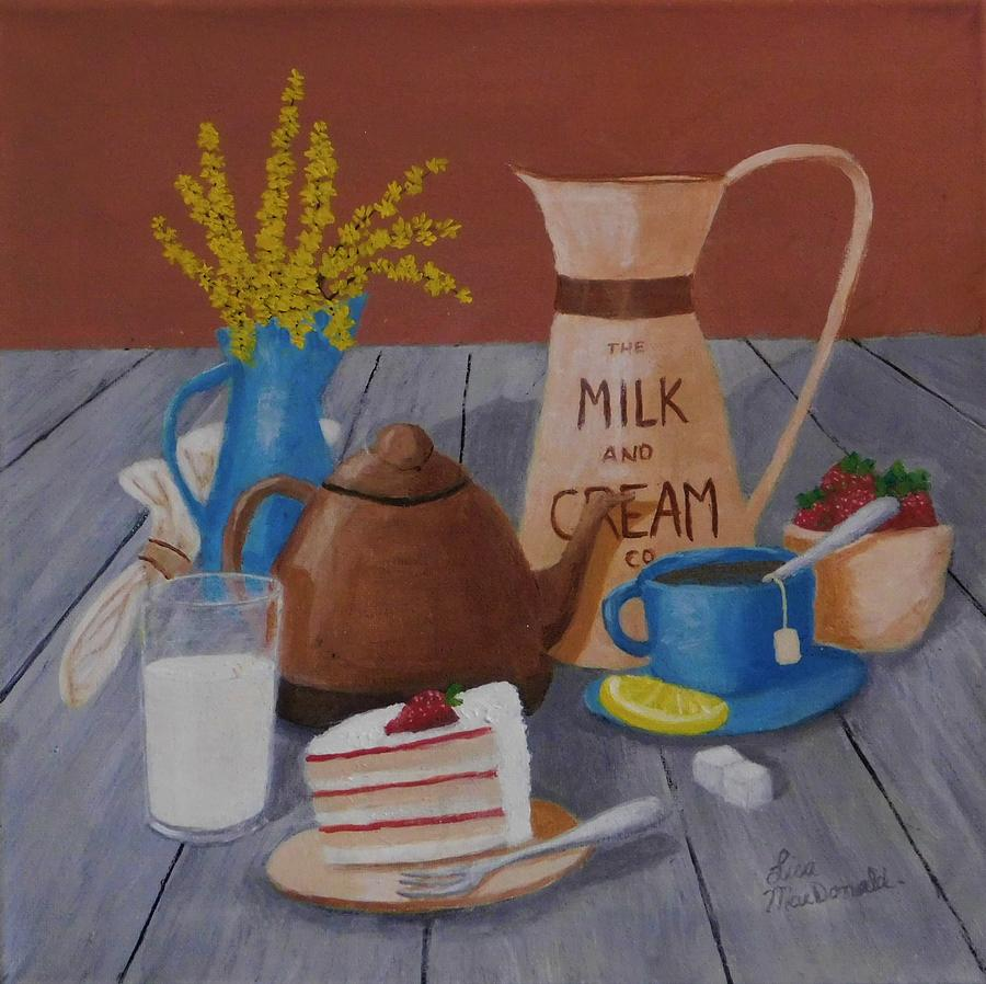 Acrylic Painting - Informal Celebration by Lisa MacDonald