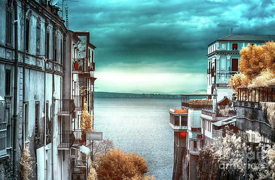 Bay Of Naples Photograph - Infrared Bay Of Naples View From Sorrento by John Rizzuto