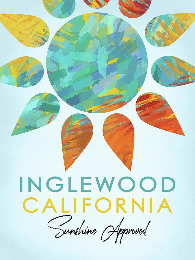 Inglewood Digital Art - Inglewood California Sunshine by Flo Karp