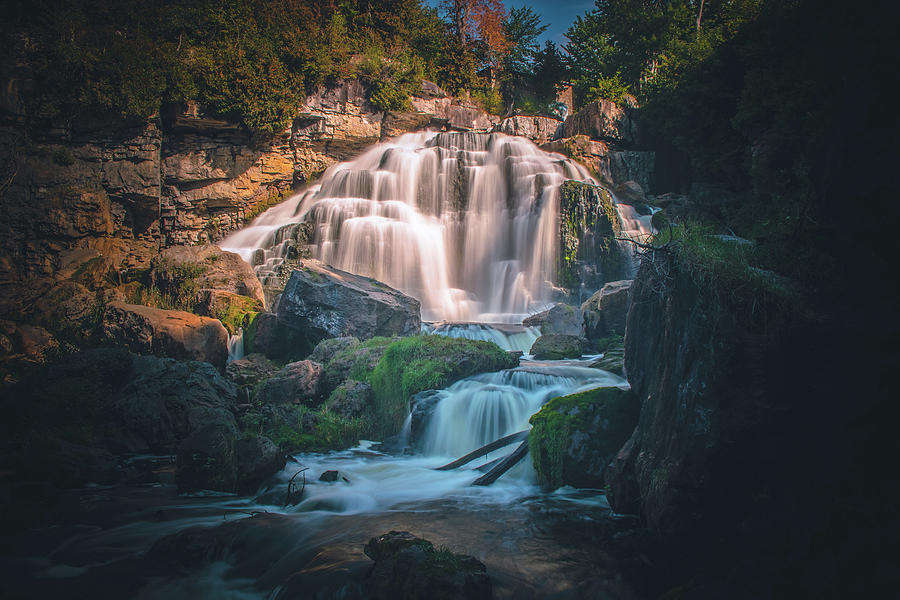 Looking at the Inglis Falls by Jay Smith